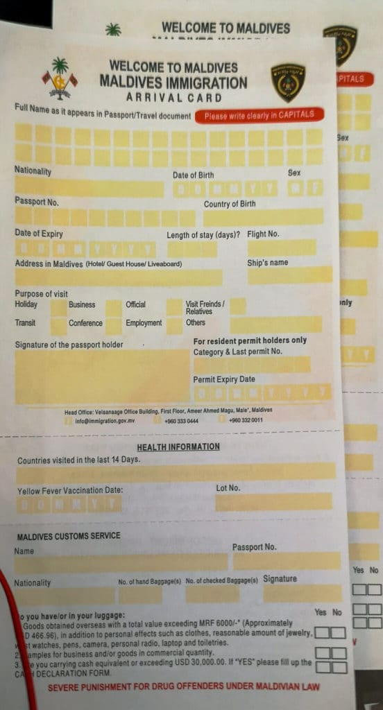 Immigrationform_Maldives